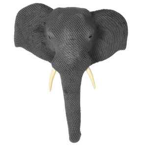 Elephant Head (wall mounted, Knitted)