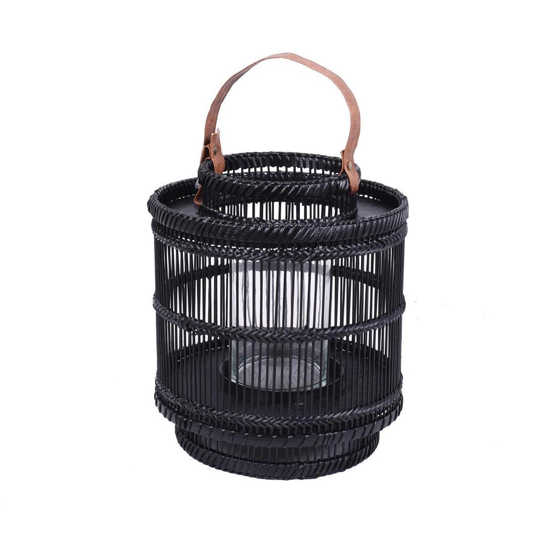 Bamboo Black Small Lantern