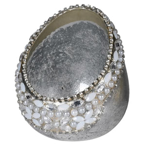 Silver and Pearl Votive