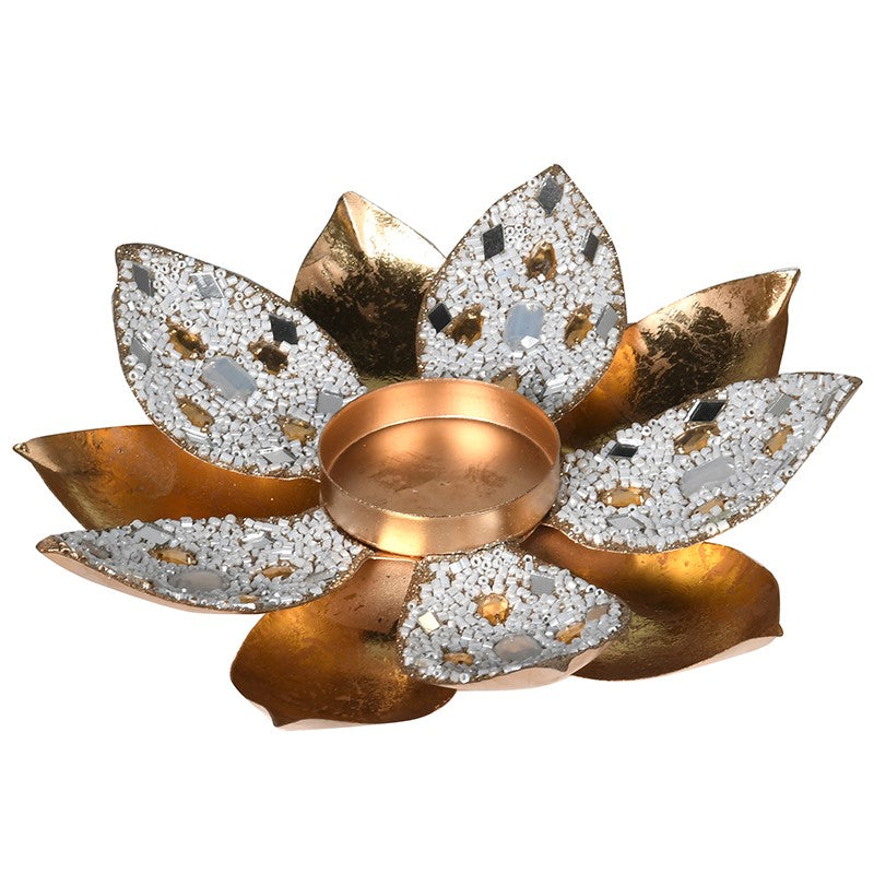 Gold Jewel Flower Votive