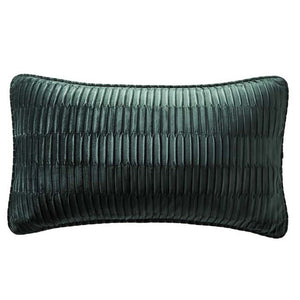 Karen Millen Velvet Pleat Emerald Cushion