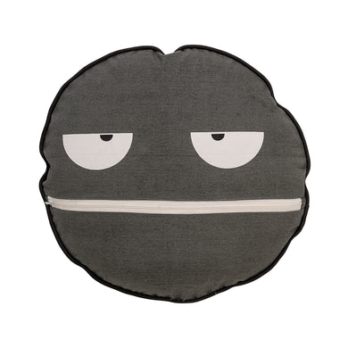 Grey Face Cushion 45cm