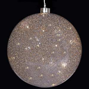 Small 'light up' Silver Glitter Ball