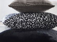 Load image into Gallery viewer, Karen Millen Leopard Midnight Dove Cushion