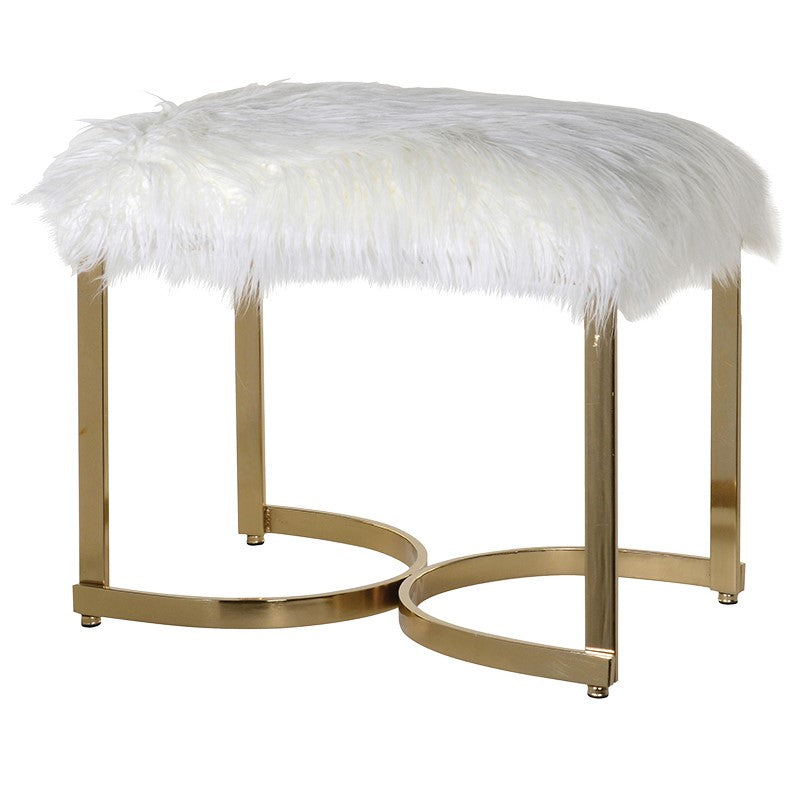 Faux Fur Curve Leg Stool