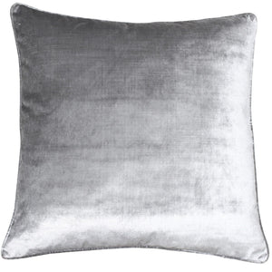 Luxury Velvet Cushion Silver