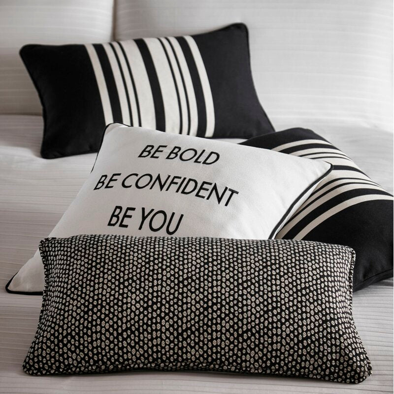 Karen Millen Slogan Square Cushion