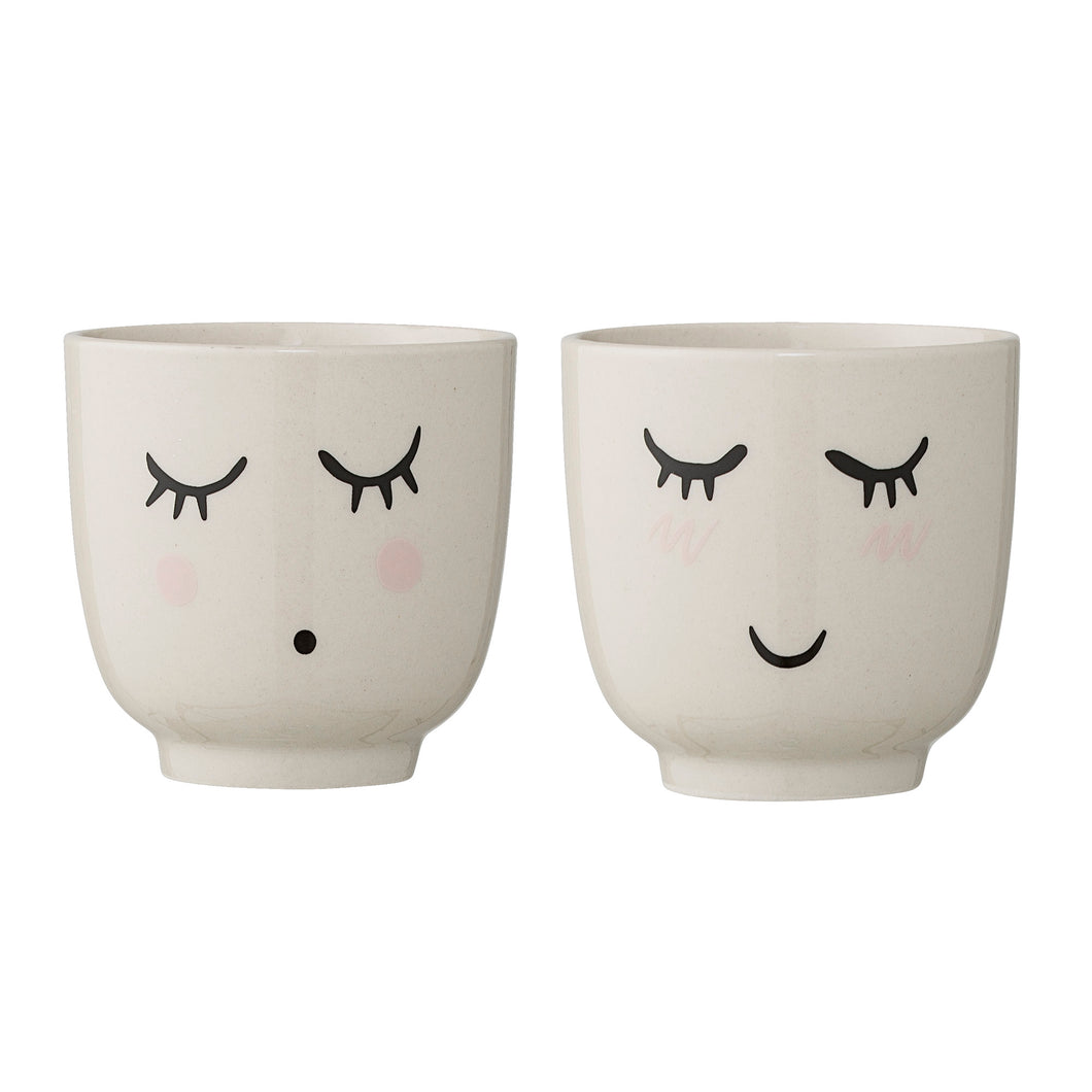 Set of 2 Smilla Cup White