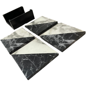 Set of 4 Marble Effect Coaster