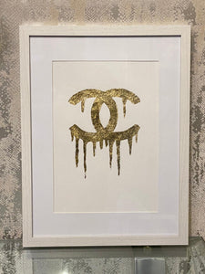Dripping Gold CC White Frame