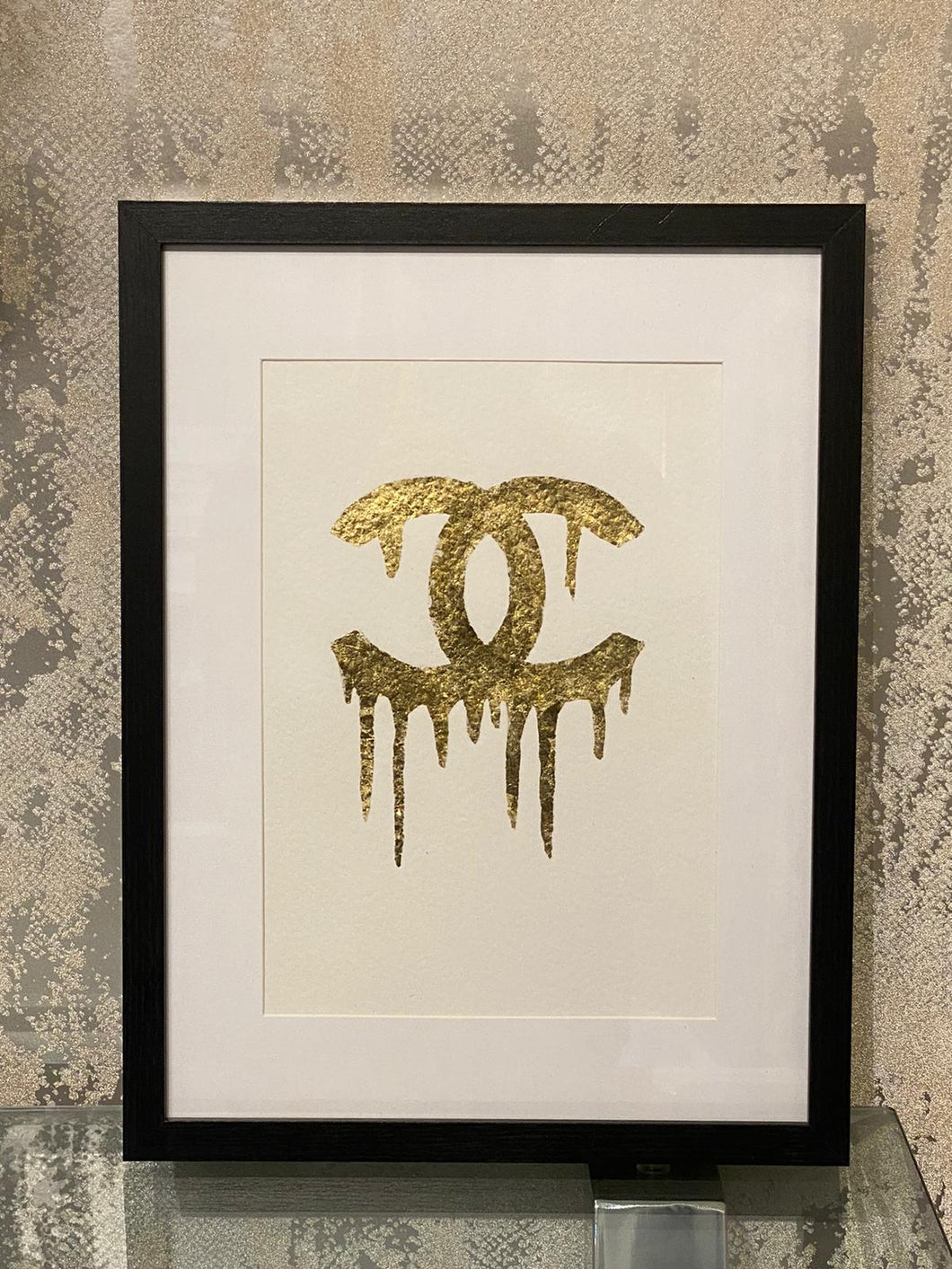 Dripping Gold CC Black Frame
