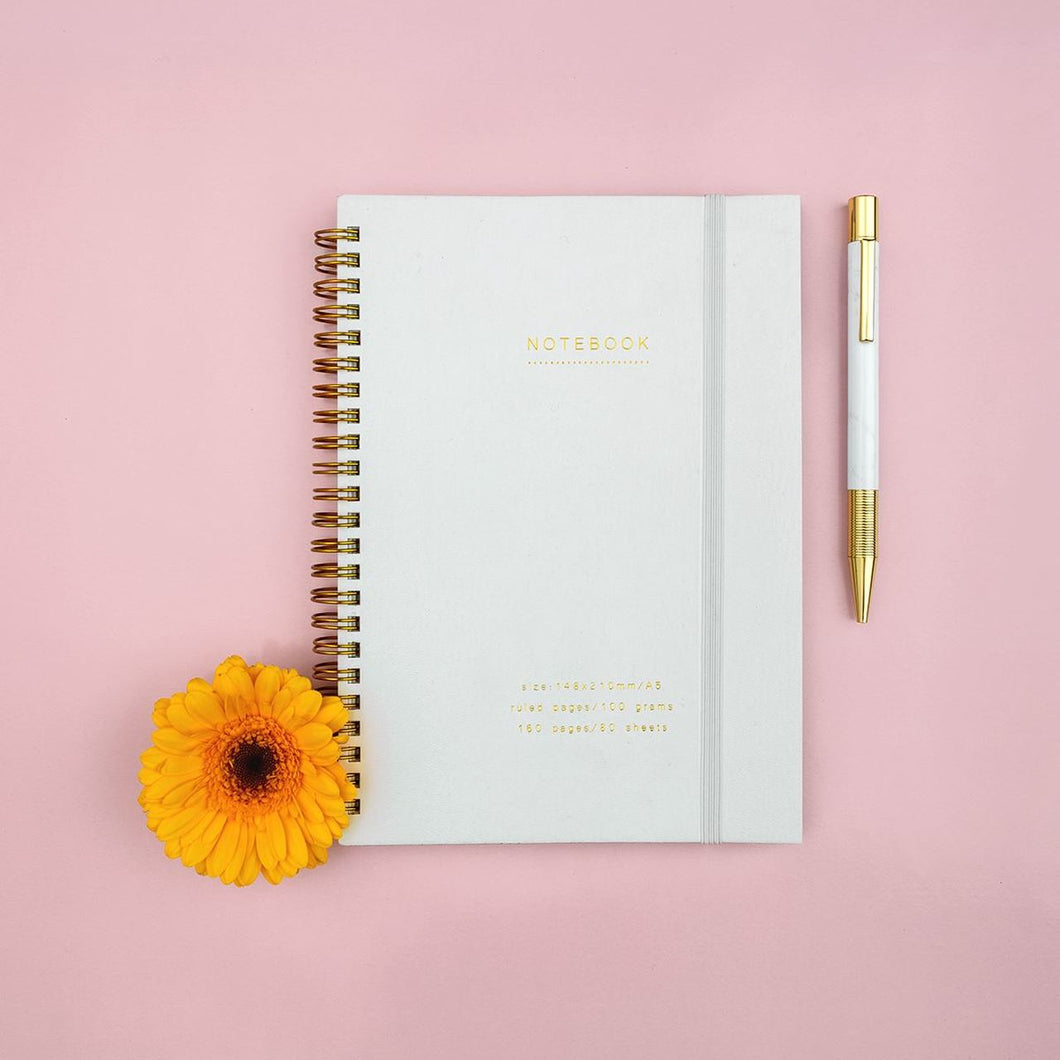 White & Gold Notebook