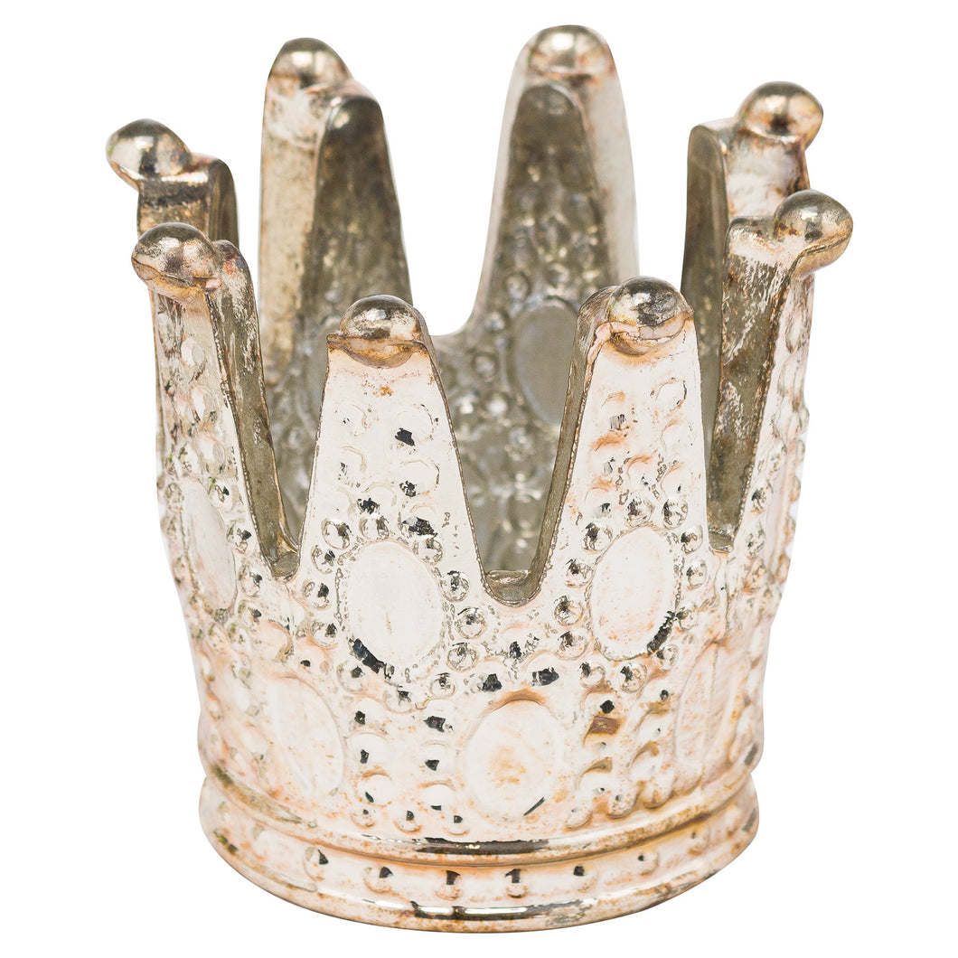 Burnished Crown Tealight Holder