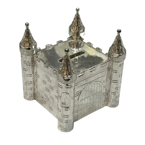 Silver Castle Money Box