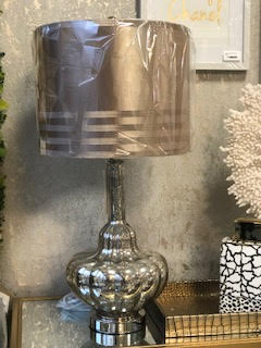 Silver Glass Champagne Lamp