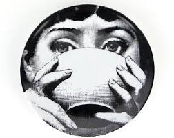 Black & White Lady Plate Cup