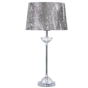 Metal & Glass Table Lamp Taupe