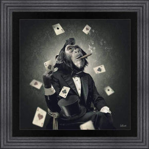 Monkey Poker Charcoal Frame