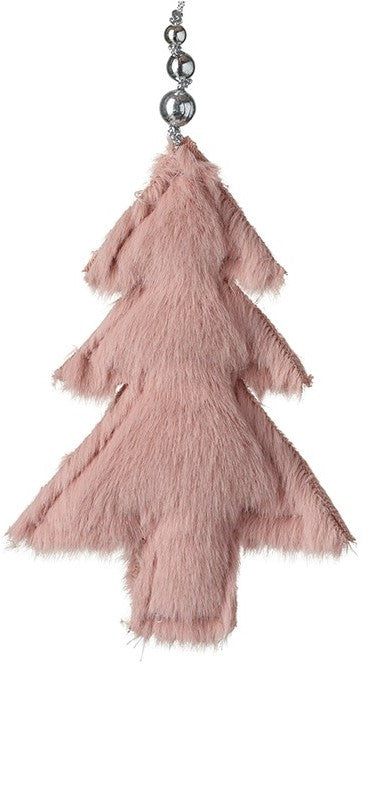 Hanging Pink Furry Tree