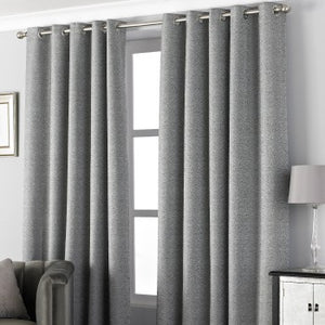 "Pend Graphite Eyelet Curtains (66x90"")"
