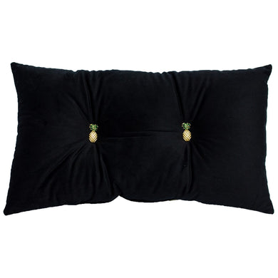 Pineapple Cushion Black