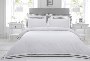 Dringham King Duvet Set Pewter