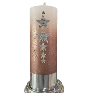 Silver Star Candle Pin
