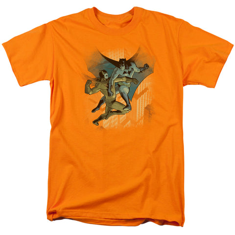 BATMAN/BATMAN VS CATMAN - S/S ADULT 18/1 - ORANGE - SM