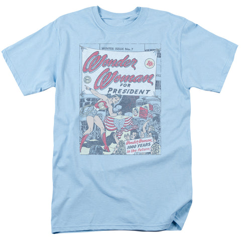 DC/WW FOR PRESIDENT - S/S ADULT 18/1 - LIGHT BLUE - 2X