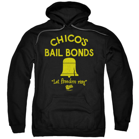BAD NEWS BEARS/CHICO'S BAIL BONDS-ADULT PULL-OVER HOODIE-BLACK-LG