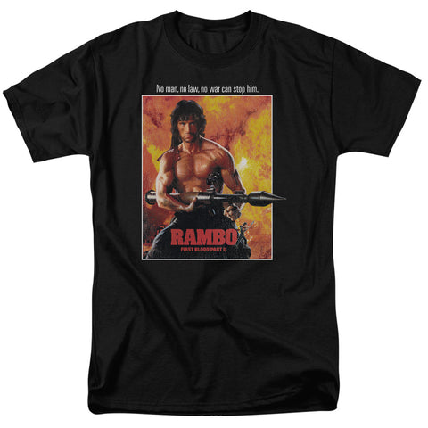 RAMBO: FIRST BLOOD II/POSTER-S/S ADULT 18/1 - BLACK - 4X