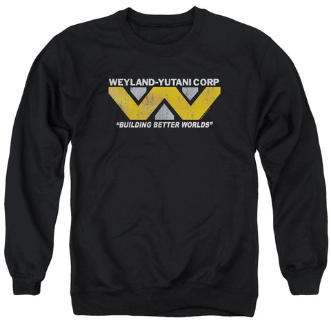 ALIEN/WEYLAND - ADULT CREWNECK SWEATSHIRT - BLACK - MD
