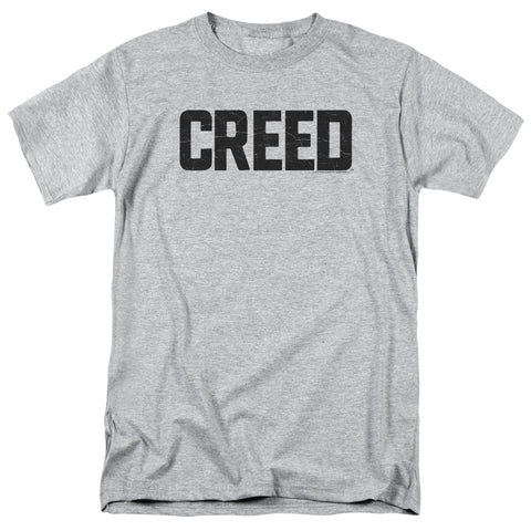 CREED/CRACKED LOGO-S/S ADULT 18/1-ATHLETIC HEATHER-MD