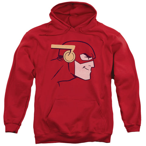 JLA/COOKE HEAD-ADULT PULL-OVER HOODIE-RED-MD
