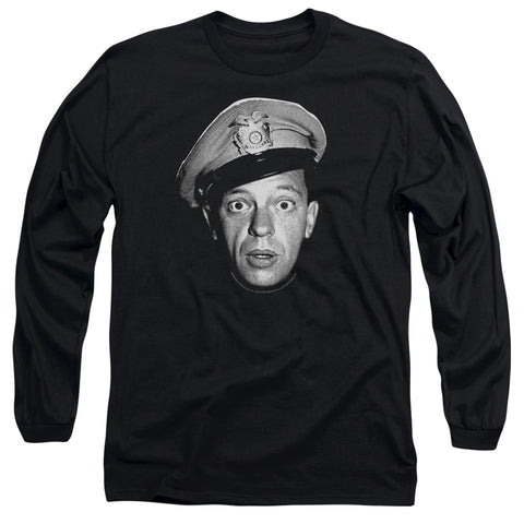 ANDY GRIFFITH/BARNEY HEAD - L/S ADULT 18/1 - BLACK - SM