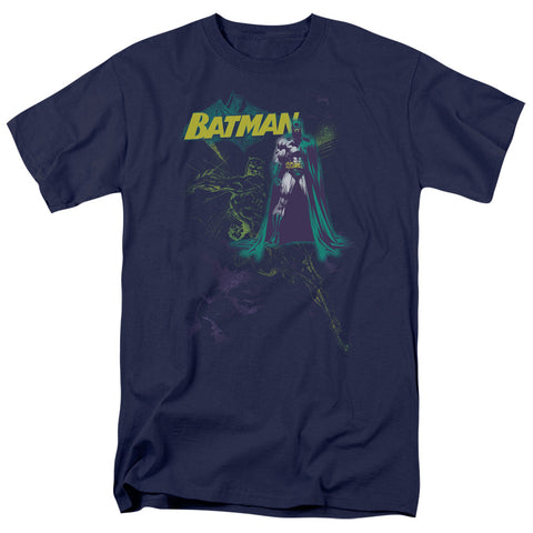 BATMAN/BAT SPRAY - S/S ADULT 18/1 - NAVY - MD