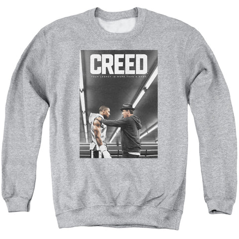 CREED/POSTER-ADULT CREWNECK SWEATSHIRT-ATHLETIC HEATHER-3X