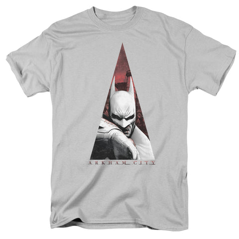 ARKHAM CITY/BAT TRIANGLE - S/S ADULT 18/1 - SILVER - XL