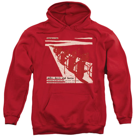 MILES DAVIS/DAVIS AND HORN-ADULT PULL-OVER HOODIE-RED-SM