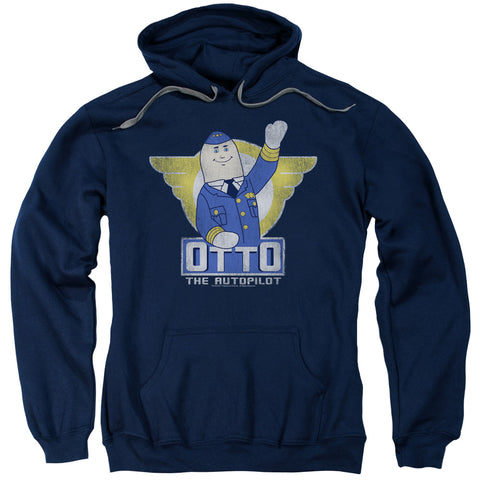 AIRPLANE/OTTO-ADULT PULL-OVER HOODIE-NAVY-XL