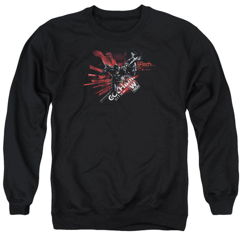 BATMAN ARKHAM KNIGHT/AK TECH - ADULT CREWNECK SWEATSHIRT - BLACK - MD