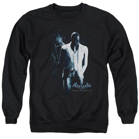 BATMAN ARKHAM ORIGINS/BLACK MASK - ADULT CREWNECK SWEATSHIRT - BLACK - 3X