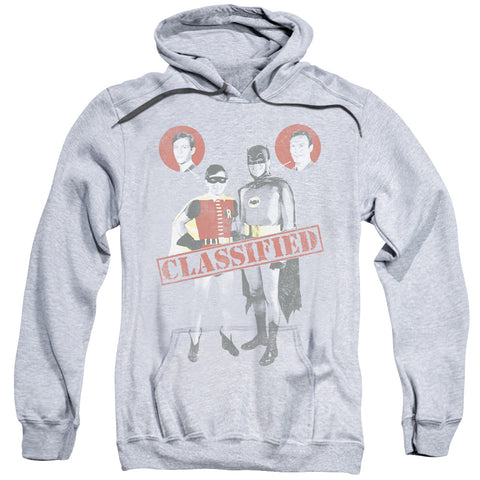 BATMAN CLASSIC TV/CLASSIFIED-ADULT PULL-OVER HOODIE-ATHLETIC HEATHER-2X