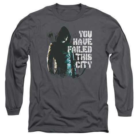 ARROW/YOU HAVE FAILED-L/S ADULT 18/1-CHARCOAL-LG