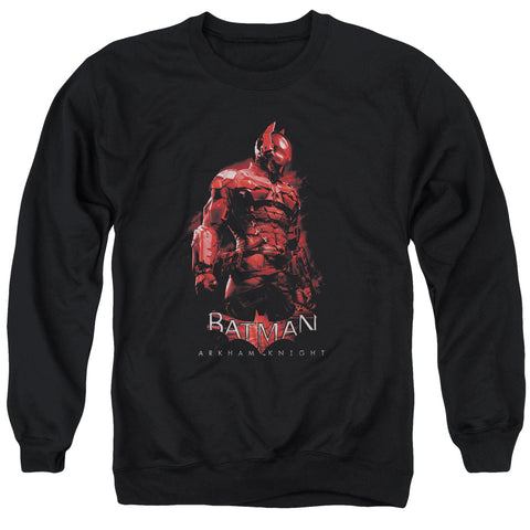 BATMAN ARKHAM KNIGHT/KNIGHT - ADULT CREWNECK SWEATSHIRT - BLACK - 3X
