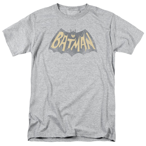 BATMAN CLASSIC TV/SHOW LOGO-S/S ADULT 18/1-ATHLETIC HEATHER-SM