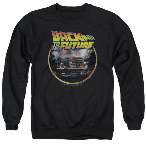 BACK TO THE FUTURE/BACK - ADULT CREWNECK SWEATSHIRT - BLACK - 2X