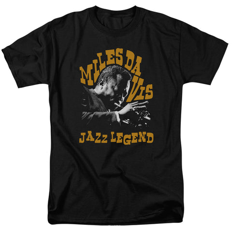 MILES DAVIS/JAZZ LEGEND - S/S ADULT 18/1 - BLACK - LG
