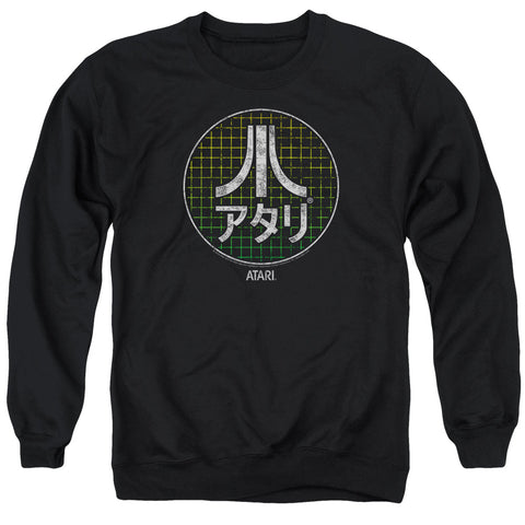 ATARI/JAPANESE GRID-ADULT CREWNECK SWEATSHIRT-BLACK-2X