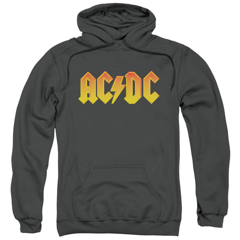 ACDC/LOGO-ADULT PULL-OVER HOODIE-CHARCOAL-SM